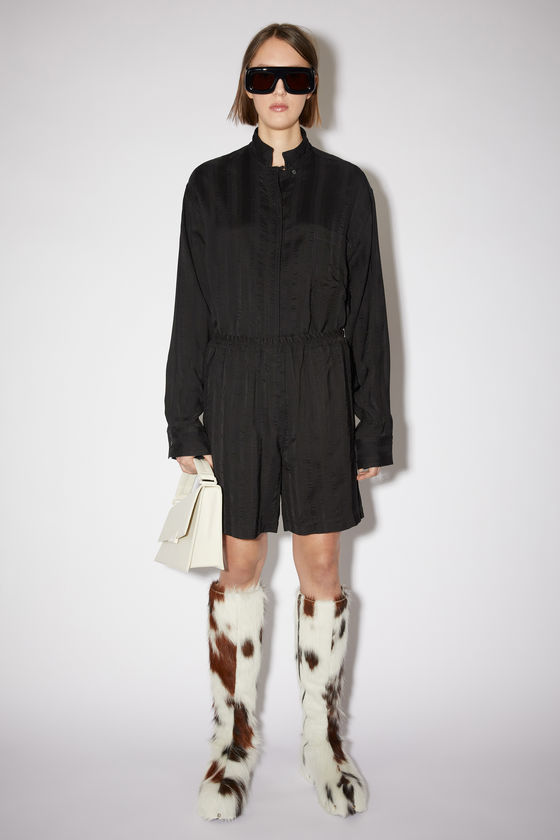 아크네 스튜디오 반바지 Acne Studios Jacquard shorts - Black