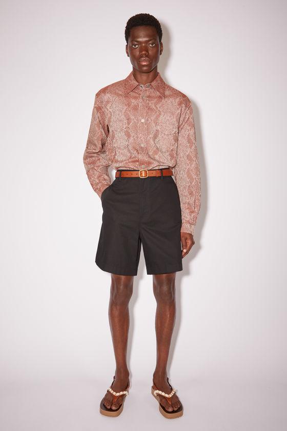 아크네 스튜디오 반바지 Acne Studios Cotton blend shorts - Black