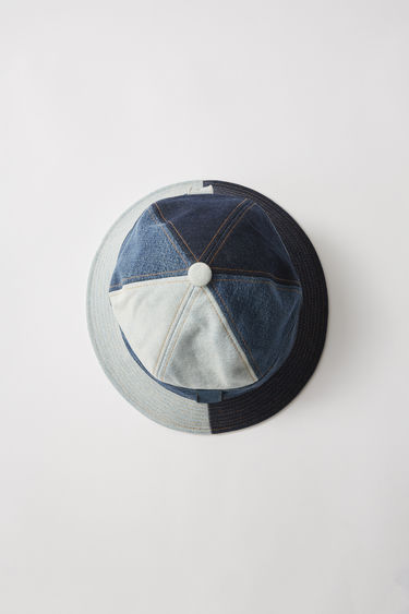 a37154f7 Acne Studios - Patchwork denim hat Indigo blue