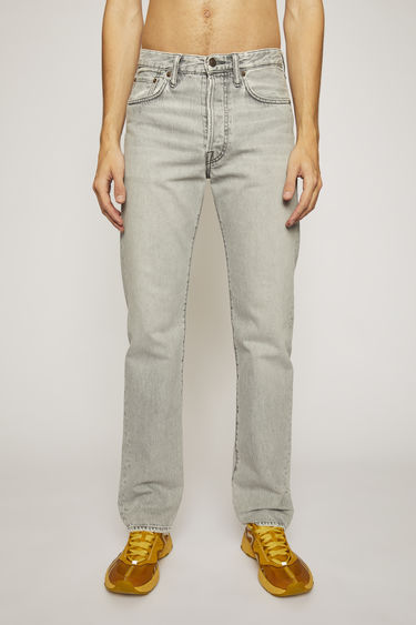 Acne Studios 1996 Stone Grey jeans are crafted from rigid denim that's washed to give a worn-in appeal. They're shaped to a high-rise silhouette before falling into loose, straight legs.