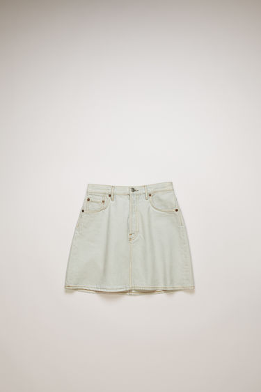 Acne Studios pale blue denim skirt is treated with a stone wash for vintage appeal and crafted to a flared silhouette with a high-rise waist.