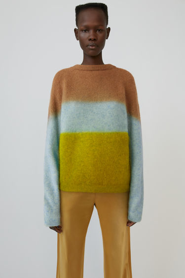Acne Studios FN-WN-KNIT000211 Brown/light blue/yellow 750x