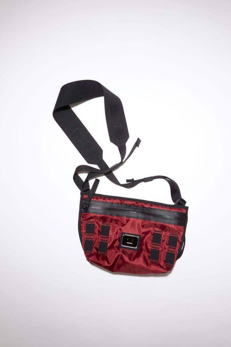 Artisan Pub Bag  Small Crossbody Bag  Swedish Canvas Festival Bag  Hands Free Phone Bag  Botanical  Print Bag  Red Stripes Blue Purse