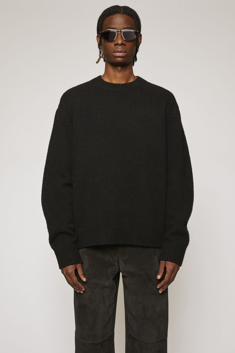 Relaxed Crewneck Sweater All Black by Acne Studios