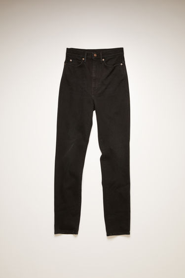 Acne Studios 1994 Washed Black jeans are crafted from comfort stretch denim that's washed to give a worn-in appeal. They're cut to a skinny-leg shape with a super high-rise waist that taper and crop at the ankles.