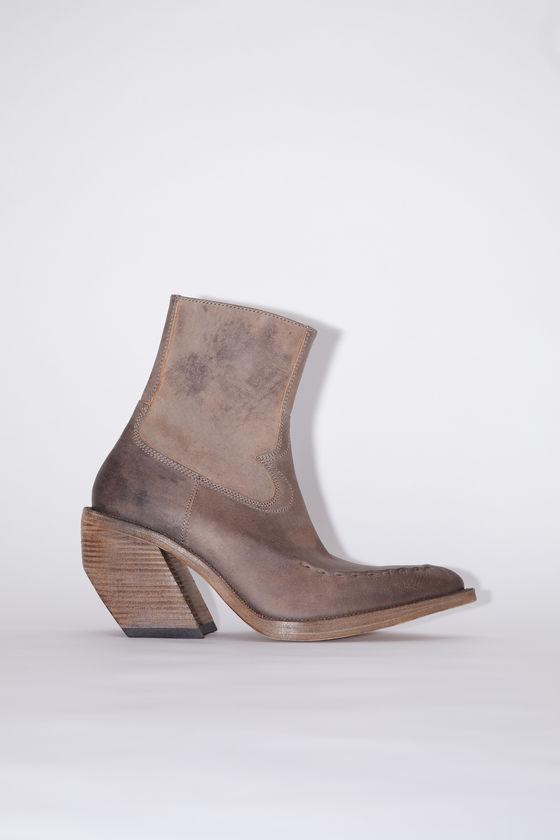 아크네 스튜디오 부츠 Acne Studios Leather ankle boots - Taupe grey