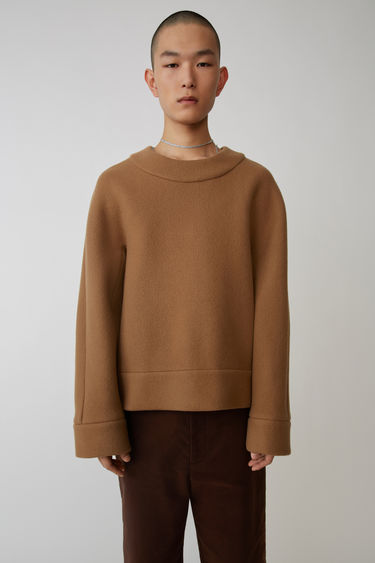 Ready-to-wear FN-MN-SHIR000021 Camel brown 375x
