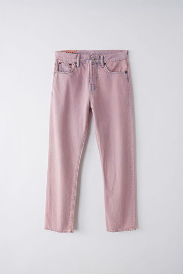 Acne Studios Blå Konst Mece pink jeans are cut to sit high on the waist and shaped to a straight-leg fit.