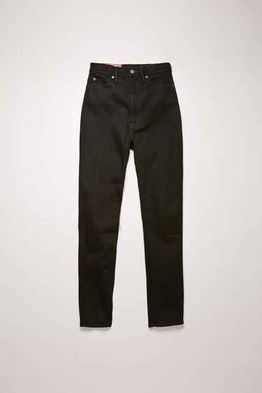 Acne Studios 1994 Black jeans are crafted from comfort stretch denim and shaped to a super high-rise silhouette with slim-fitting legs.