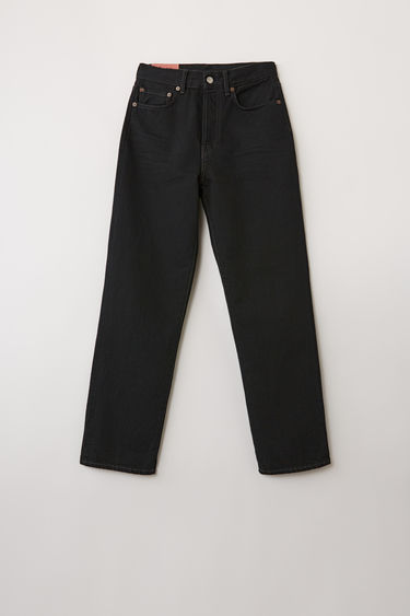 Acne Studios Blå Konst Mece Black Overdye jeans are cut to sit high on the waist and shaped to a straight-leg fit.