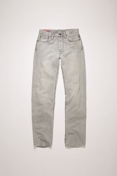 Acne Studios 1997 Stone Grey jeans are crafted from rigid denim that's washed and whiskered to give a time-worn appeal. This pair is cut to fit slim and sit high on the waist before falling into straight legs.