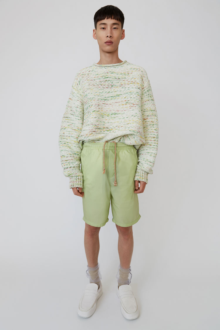 Nylon Shorts Pale Green by Acne Studios