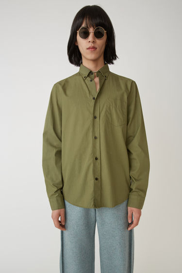 Acne Studios Isherwood Soft Pop Hunter green 375x