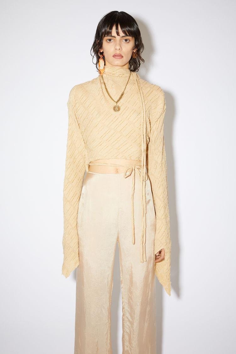 Acne Studios Silks Long sleeve shirt Desert beige