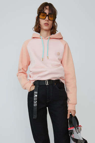 Acne Studios Blå Konst blossom pink two-tone hooded sweatshirt with a relaxed fit and raglan sleeves.
