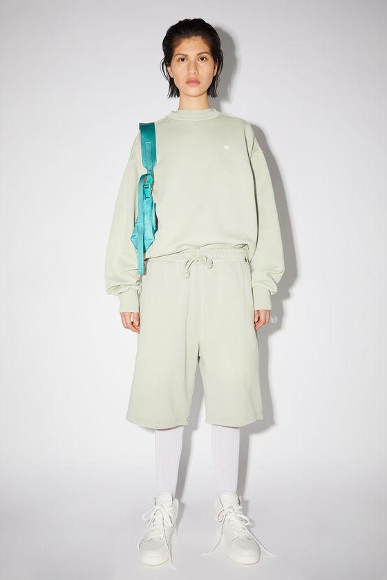아크네 스튜디오 반바지 Acne Studios Fleece sweat shorts - Dusty green