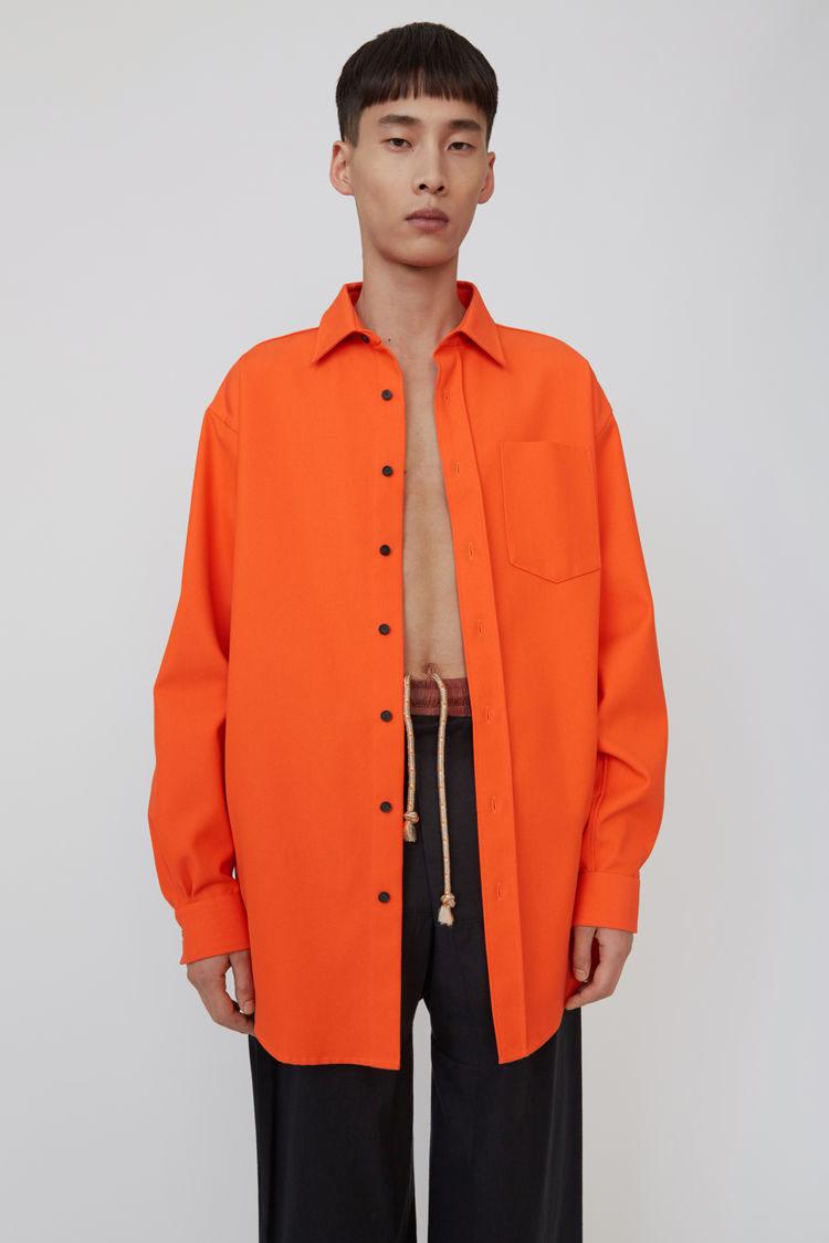 Oversized Shirt Neon Orange by Acne Studios