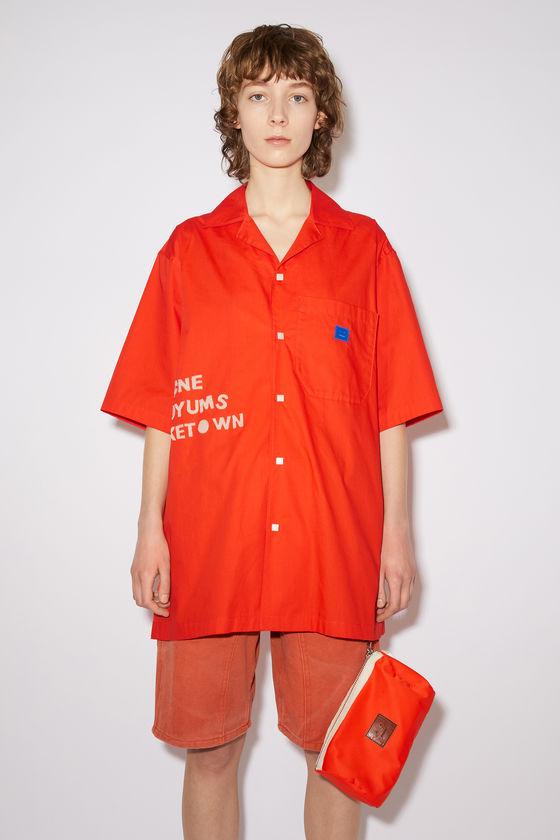 아크네 스튜디오 셔츠 Acne Studios Cotton poplin shirt - Mandarin orange
