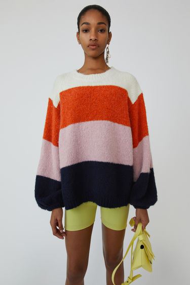 Ready-to-wear FN-WN-KNIT000104 Coral/navy multi 375x